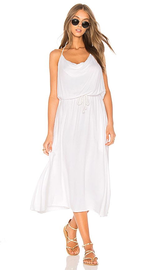LA Made Coco Halter Dress in White