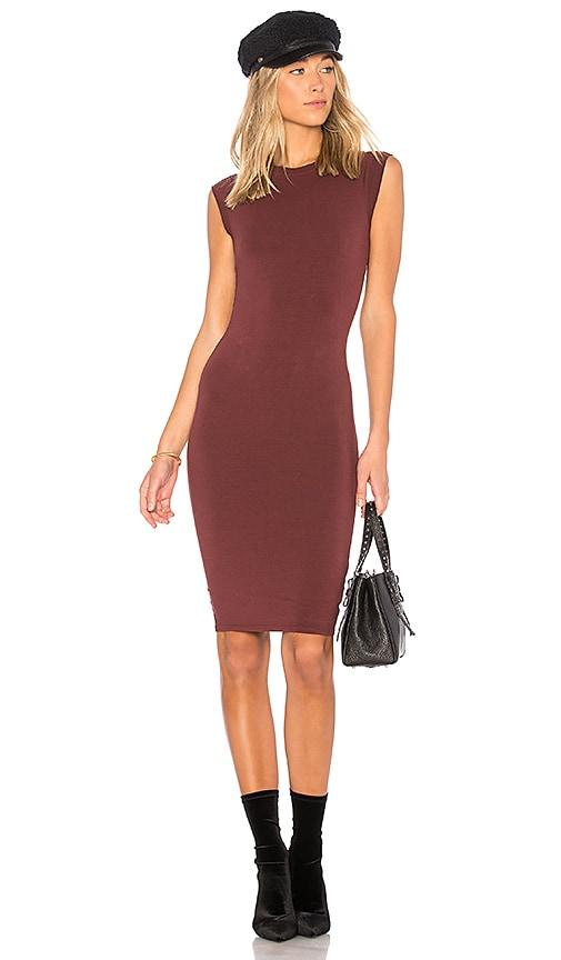 LA Made Obi Dress in Wine