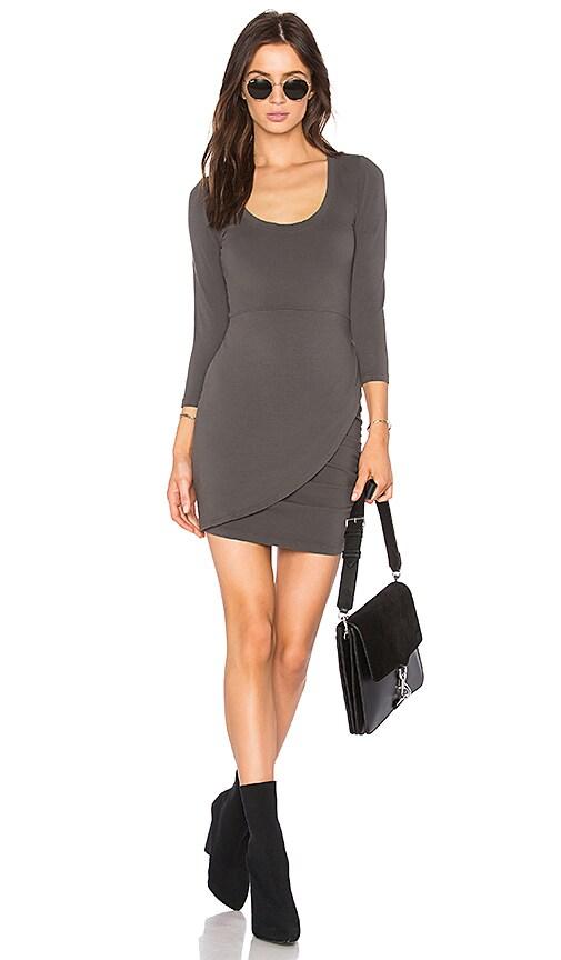 LA Made Izzy Dress in Gray