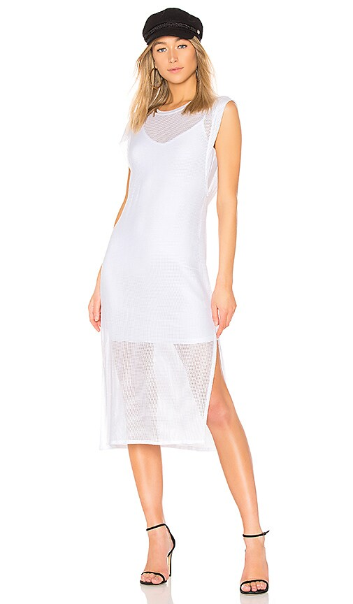 LA Made Chiara Layered Dress in White