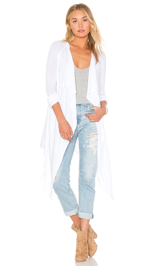 LA Made Sylvia Cardigan in White