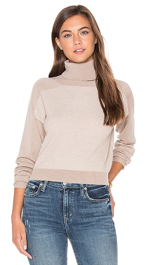 LA Made Trish Cropped Sweater in Gray