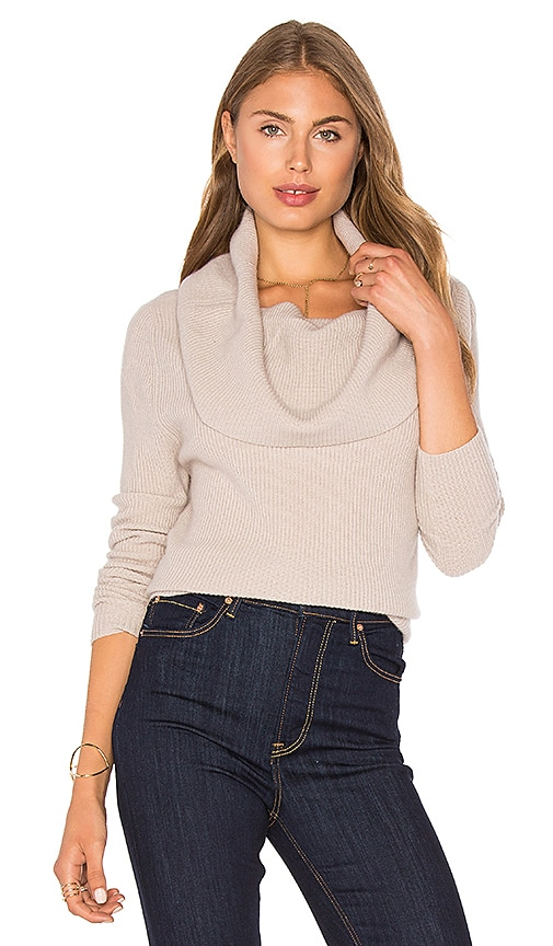 LA Made Amalia Cowl Sweater in Tan