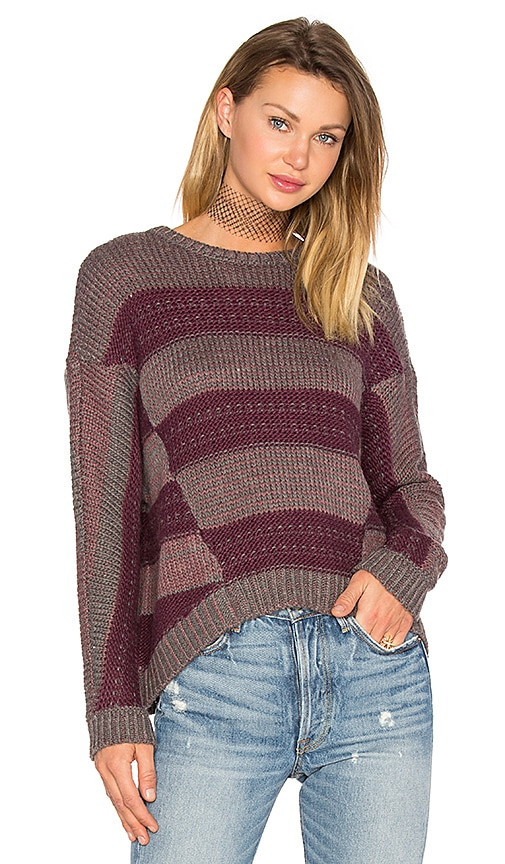 LA Made Syrah Pullover Sweater in Burgundy