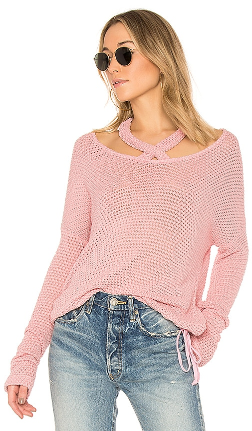LA Made Viera Sweater in Pink