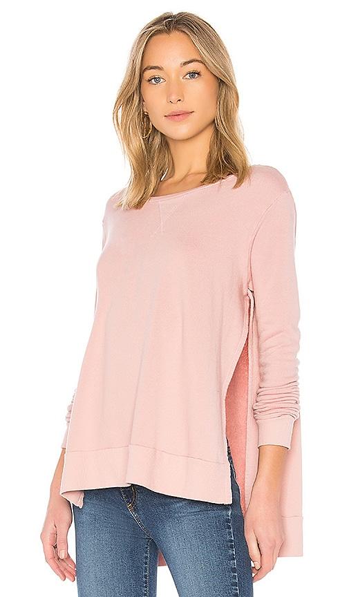 LA Made Keen Side Split Sweatshirt in Pink