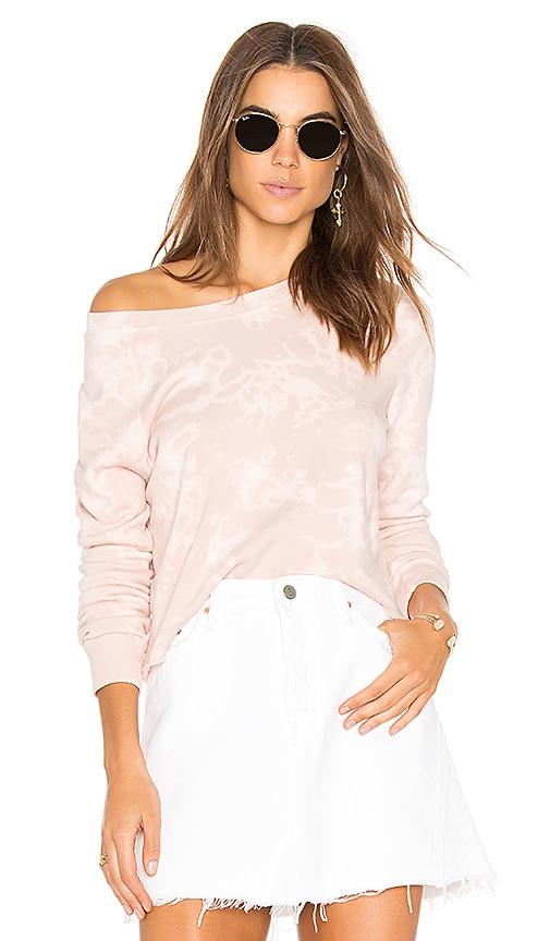 LA Made Kash Crop Sweatshirt in Blush