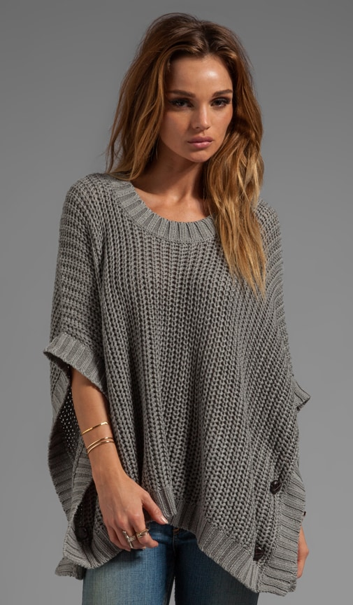 Jersey Knit Poncho Sweater