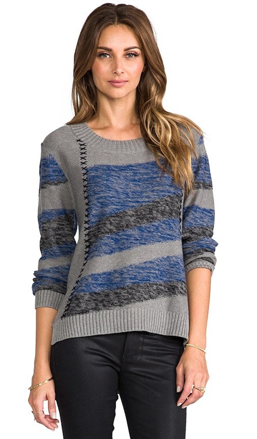 Intarsia Stripe Sweater