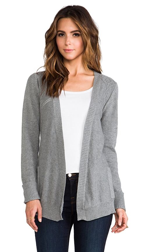 Cable Front Tie Cardigan