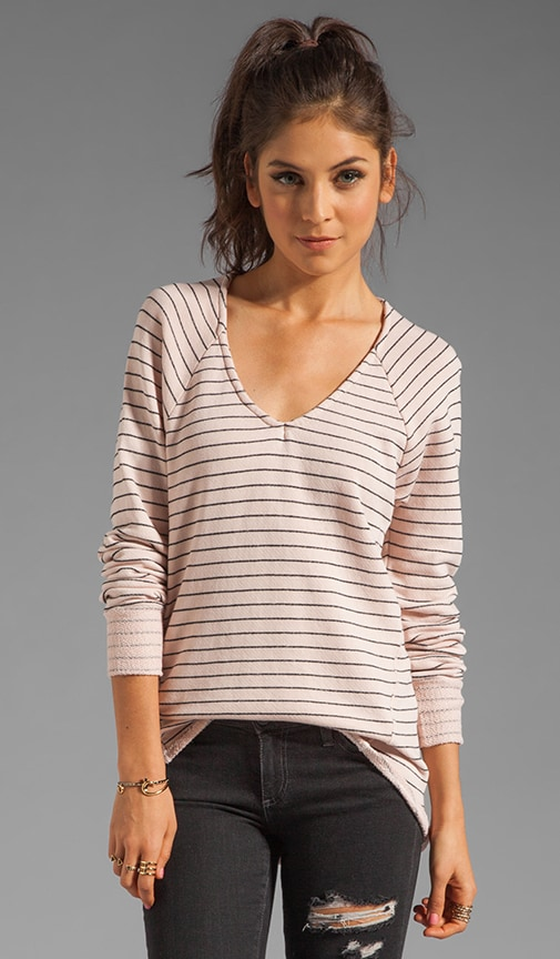 French Terry Mini Stripe Pullover