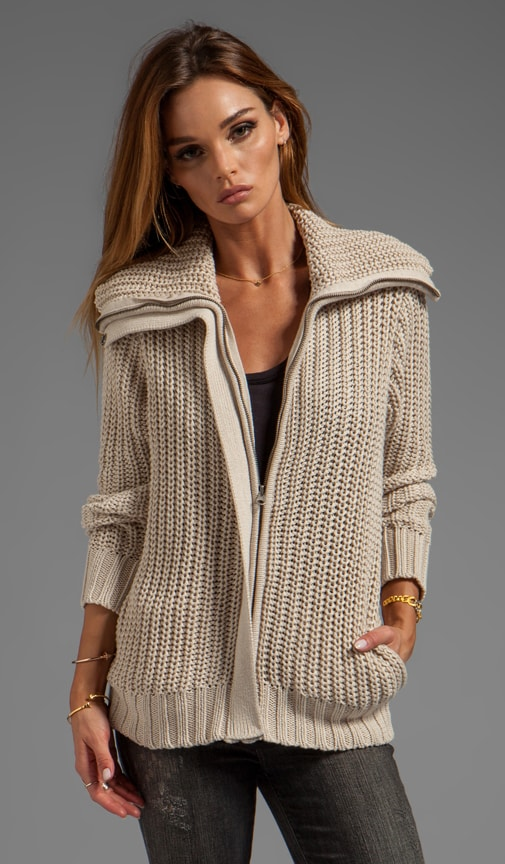 Jersey Knit Zip Jacket