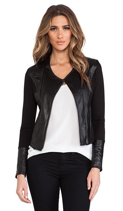 Lambskin Contrast Jacket