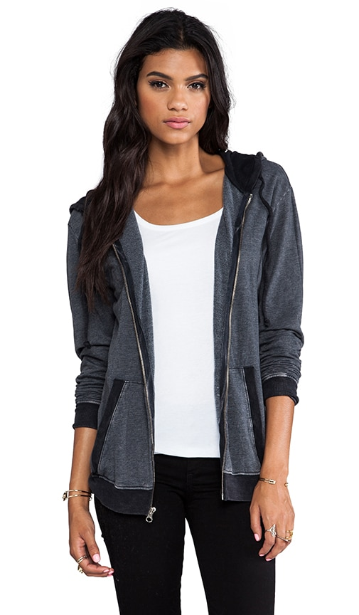 Over Sized Hoodie with Contrast Sleeves