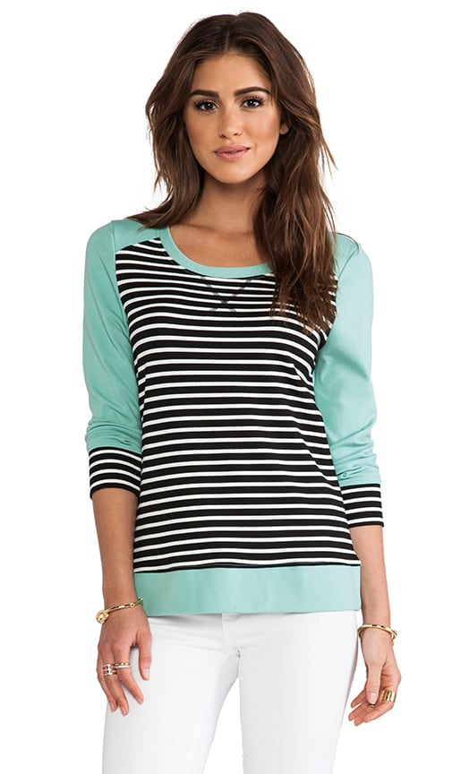 Colorblocked Striped 3/4 Pullover