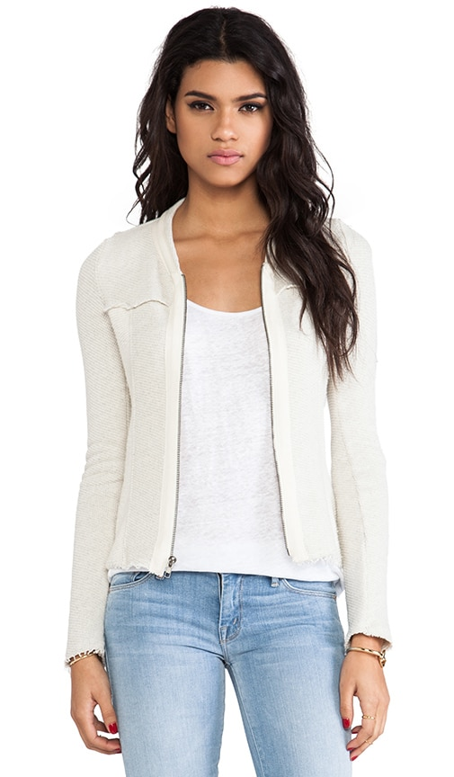 Two-Tone Zip Front Jacket