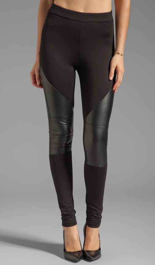 Lambskin Contrast Legging