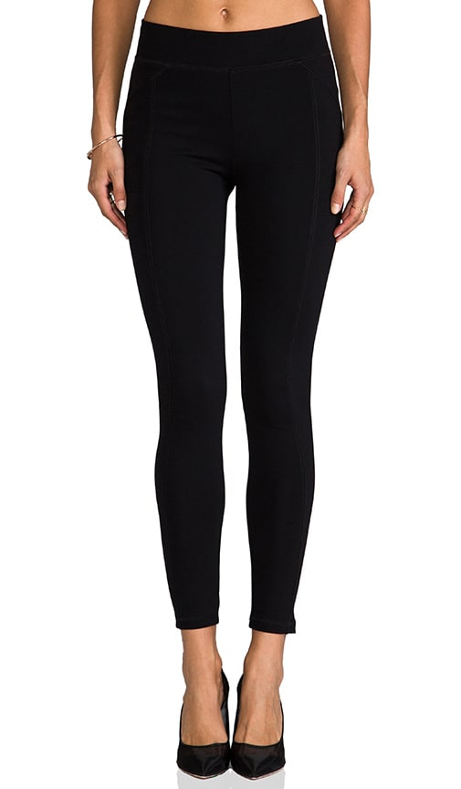 Solid Ponte Paneled Legging