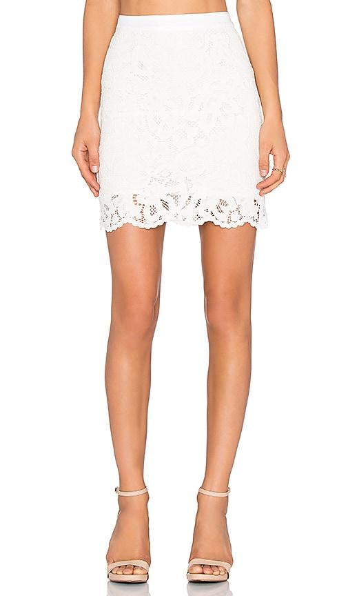 LA Made Lulu Lace Pencil Skirt in Cream