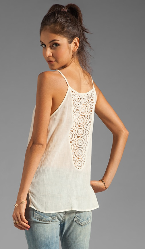 Flowy Tank with Crochet Back