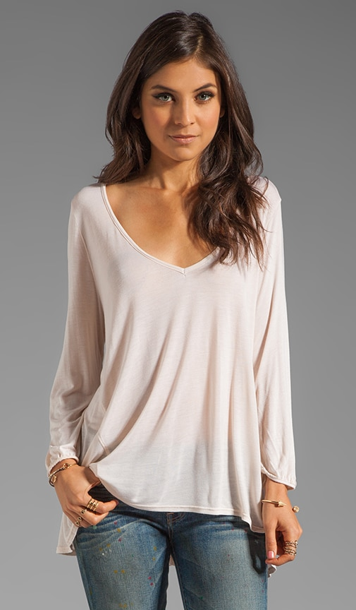 Hi Low Long Sleeve V Neck