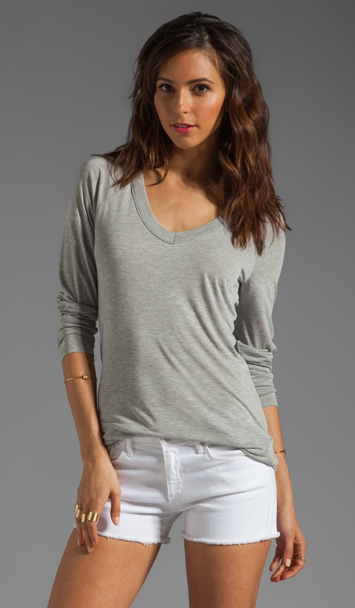 Long Sleeve Double V Neck Tunic