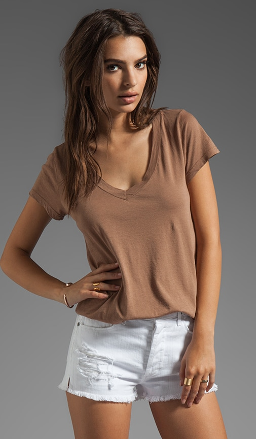 Micromodal Jersey Low V Neck BF Tee