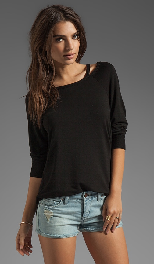 Cut Out Boatneck Pullover