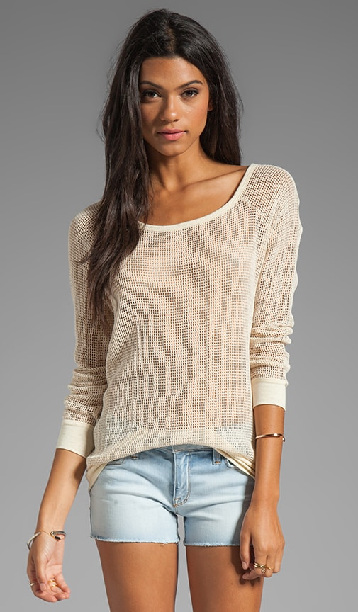 Mesh Jersey Long Sleeve Boatneck