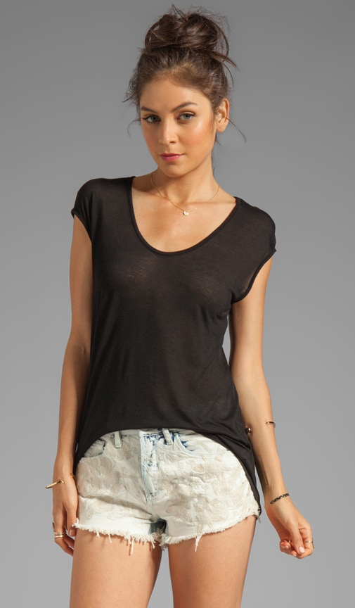 Viscose Jersey Scoop Neck Tee