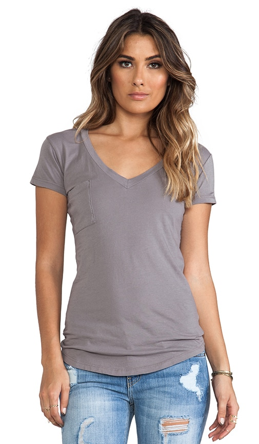 Tissue Jersey V-Neck Pocket Tee