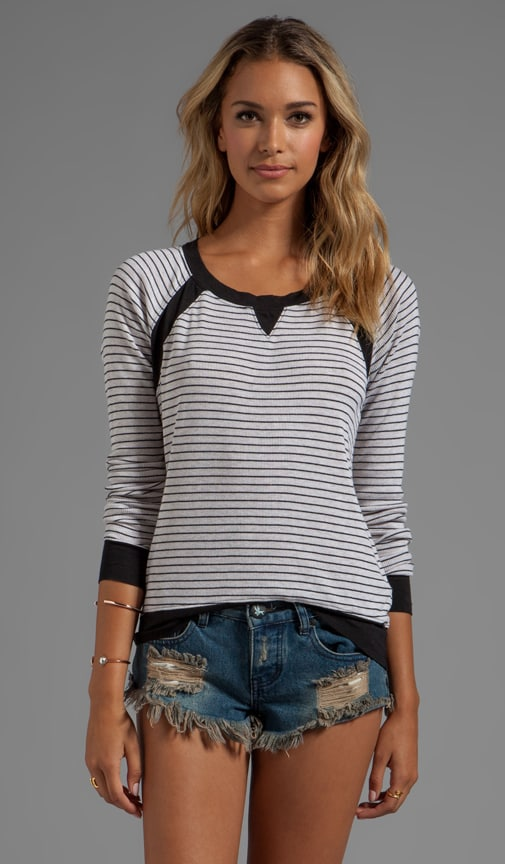 Long Sleeve Striped Pull Over