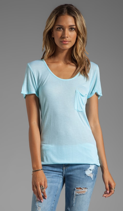 Rolled-Up Open Neck Tee