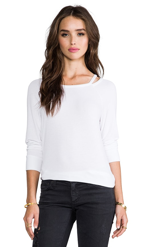 Supersoft Cut-Out Boatneck Pullover