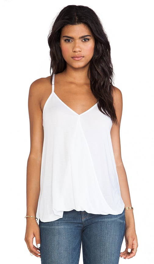 LA Made Hi-Low Wrap Top in White