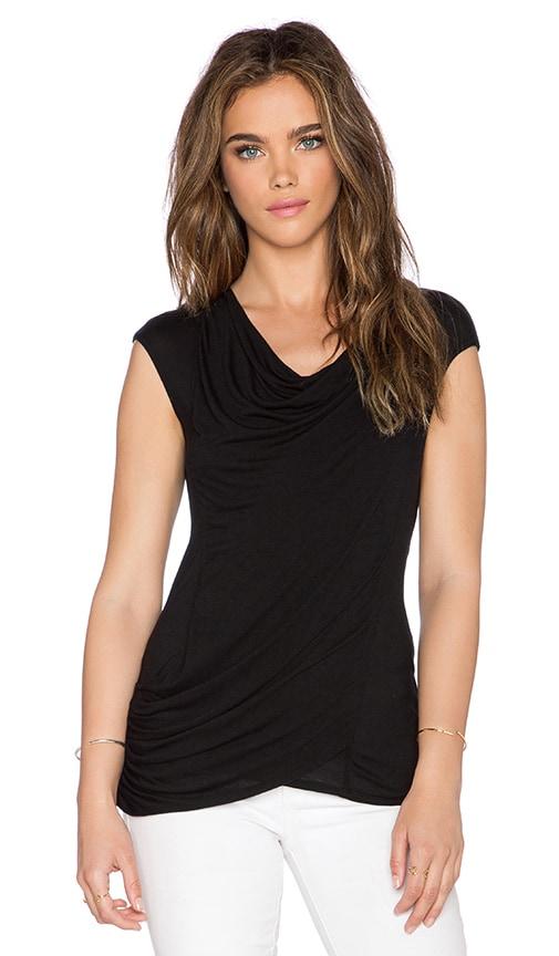 LA Made Toni Drape Top in Black