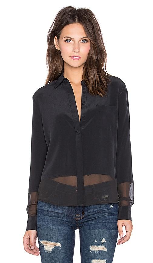 LA Made Rachel Button Down Top in Black