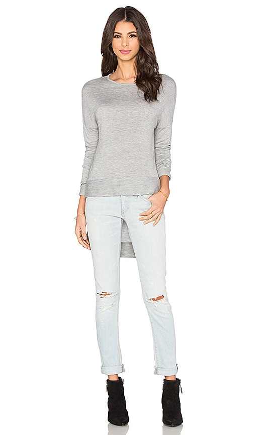 LA Made Tara Hi Lo Top in Heather Grey
