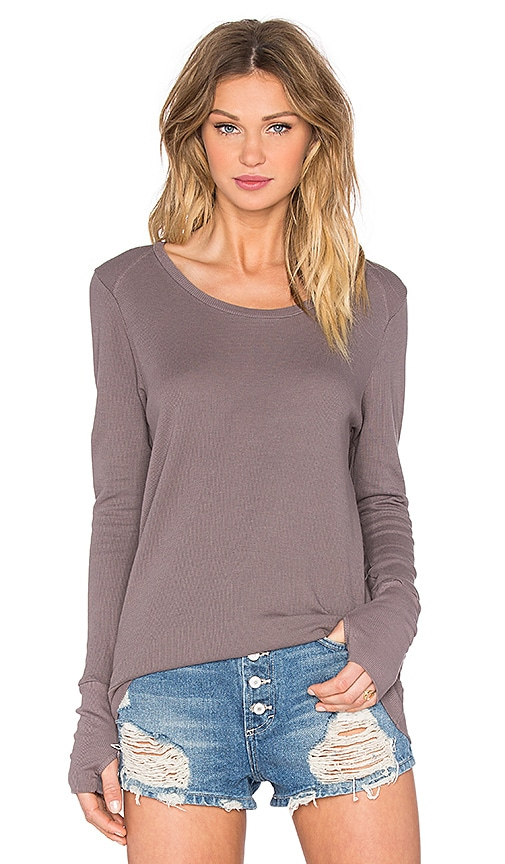 LA Made Conway Thumbhole Thermal Top in Fennel