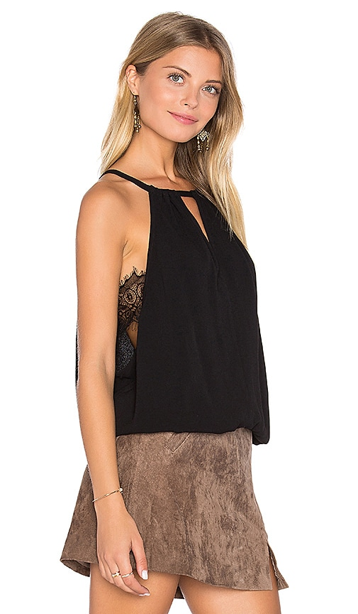 LA Made Mei Drape Tank in Black