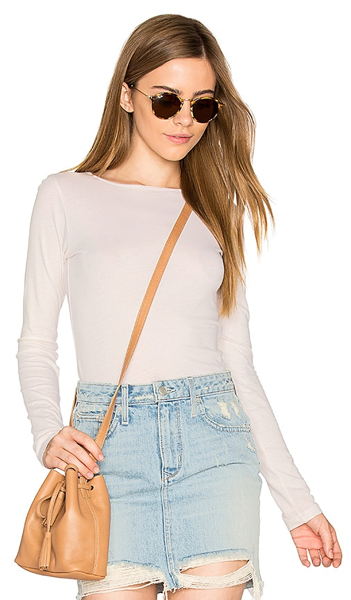 LA Made Crew Neck Tunic in Ivory