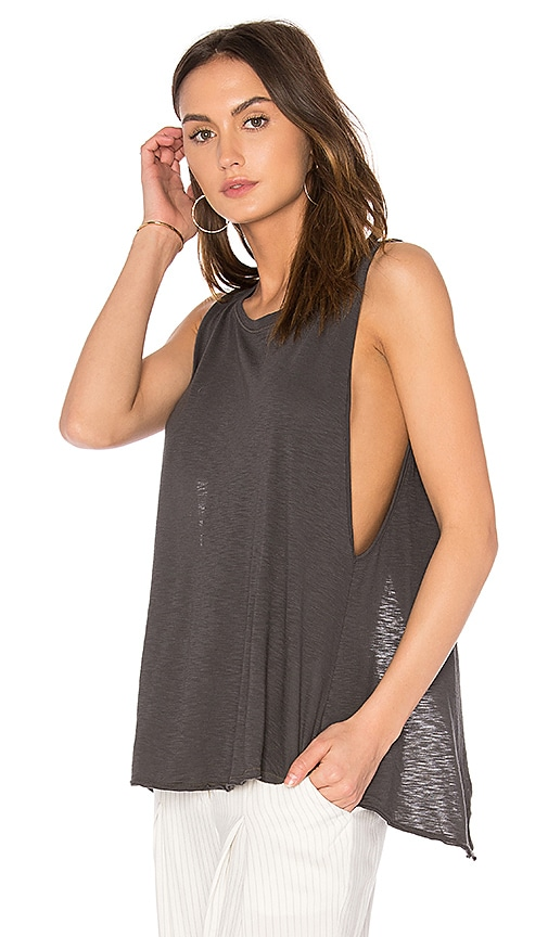 LA Made Mindy Tank in Charcoal