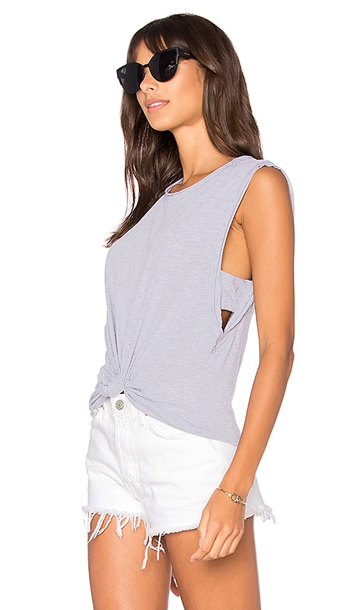 LA Made Venice Muscle Tank in Gray