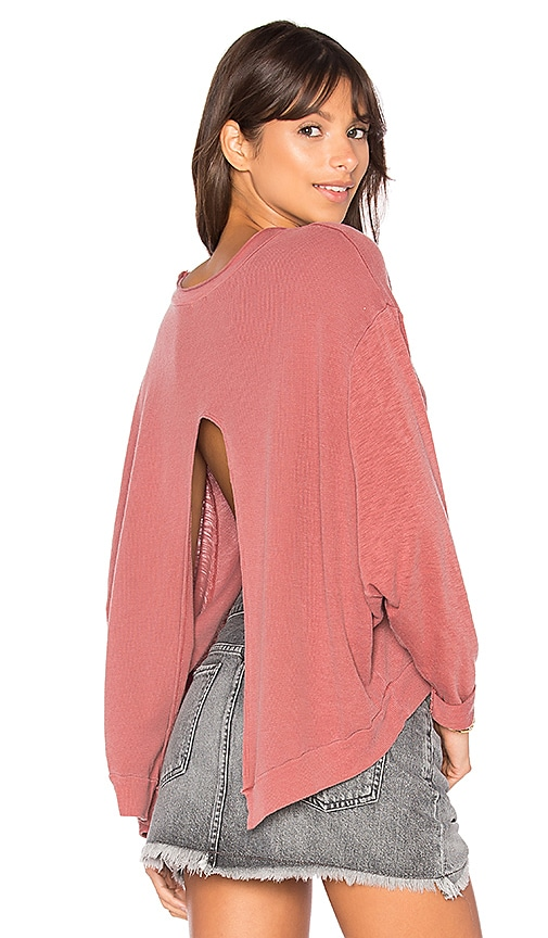 LA Made Roz Thermal Top in Red