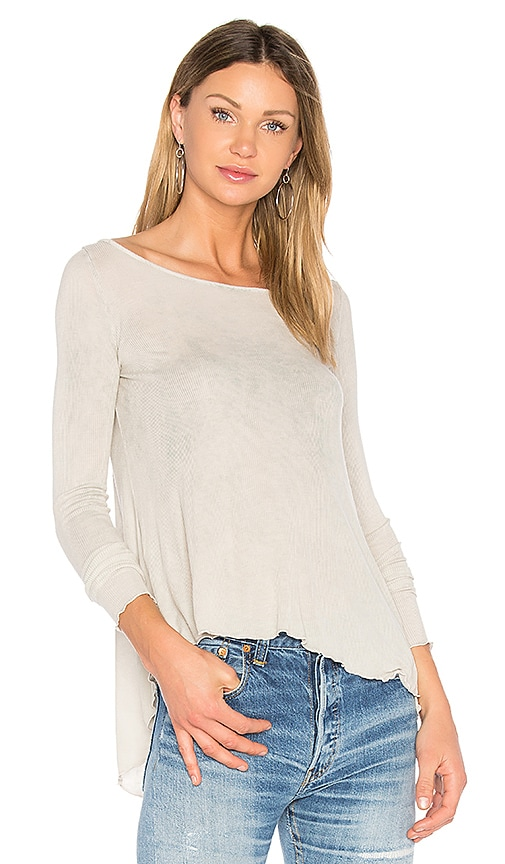 LA Made Virginia Top in Light Gray