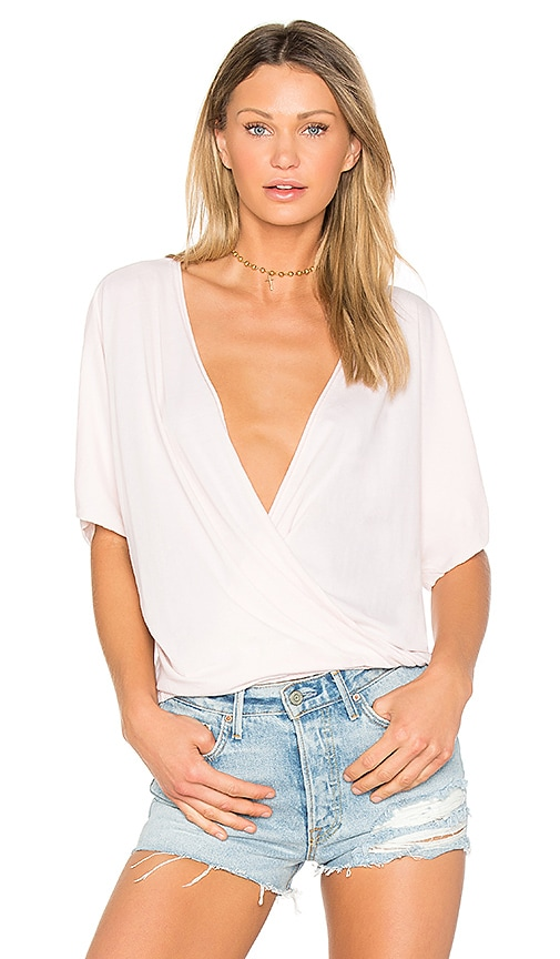 LA Made Ines Crossover Top in Pink