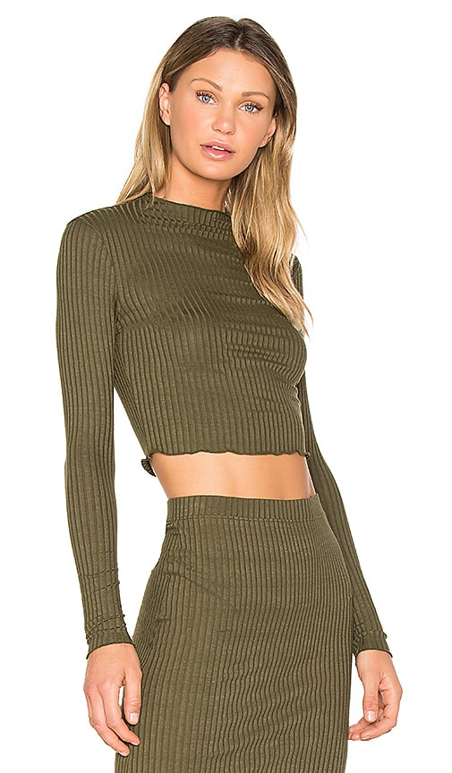LA Made Emanuelle Crop Top in Green