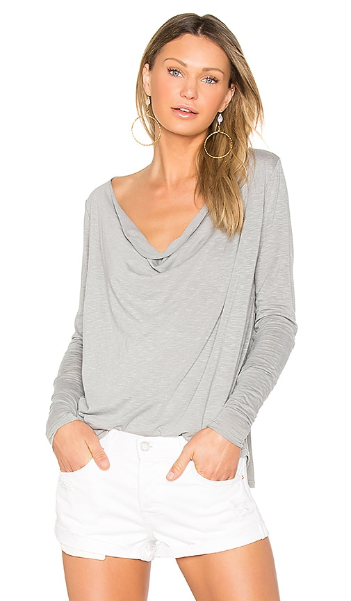 LA Made Marissa Drape Back Tee in Sage
