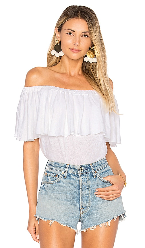 LA Made Rosane Off the Shoulder Top in White