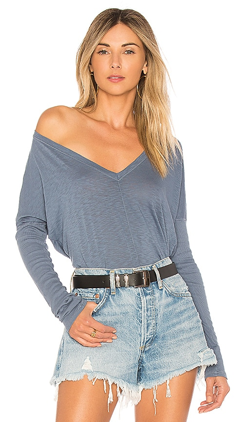LA Made Lizbeth Top in Blue